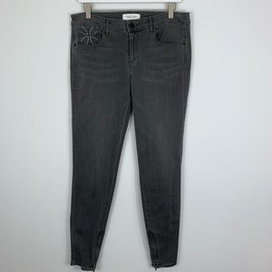 Habitual Gray Almas High Rise Ankle Zip Skinny 29